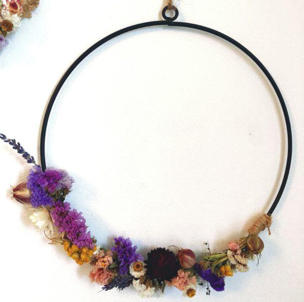 Grande couronne fleurs séchées Ginger Flower