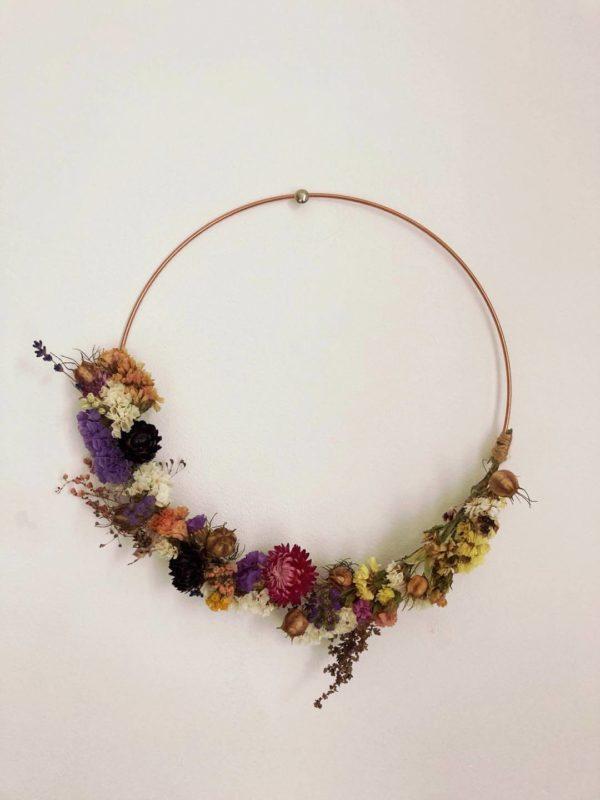 Couronne de fleurs séchées Ginger Flower