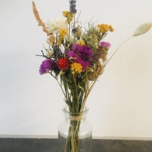 Mini bouquet de fleurs sechées et vase Ginger Flower