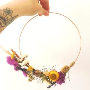 Couronne fleurs séchées Ginger Flower