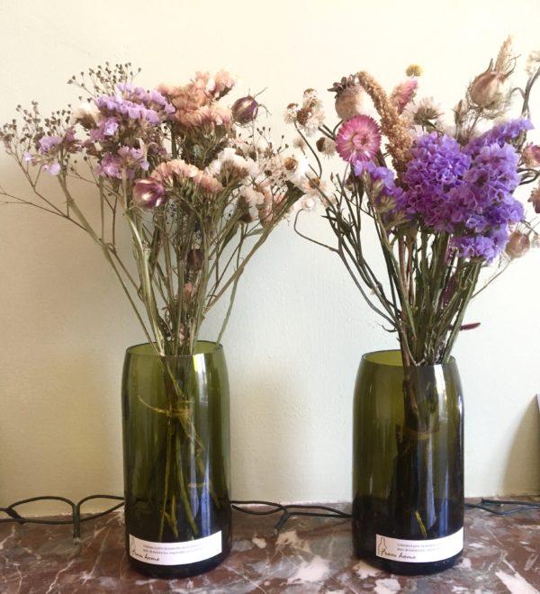 Vase From Home et bouquet de fleurs séchées Ginger Flower