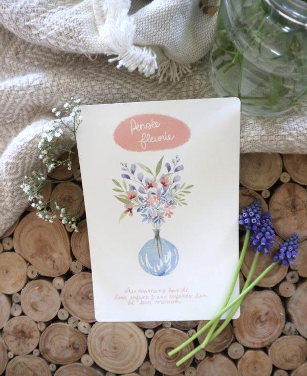Carte Juliette gribouille - Ginger Flower