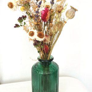 Mini bouquet de fleurs séchées et son vase