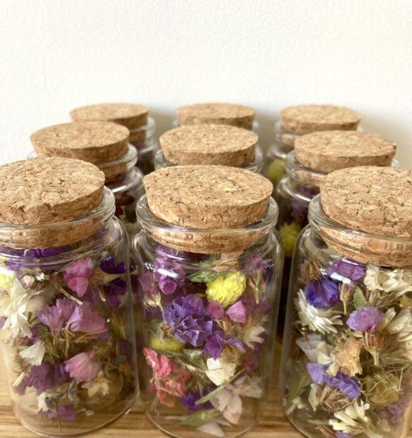 Bocaux fleurs séchées